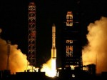 A Russian Proton rocket lifts off from Baikonur on Dec. 28, 2009 (Credit: Roscosmos).