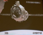 Shenzhou-8 just after its undock from Tiangong-1. (Credits: Xinhua/Wang Jiamin).