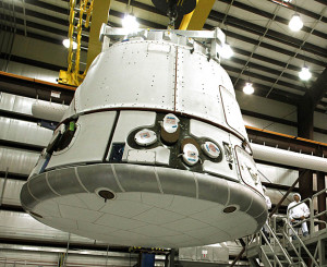 The SpaceX Dragon capsule (Credits: SpaceX/Mike Brown)