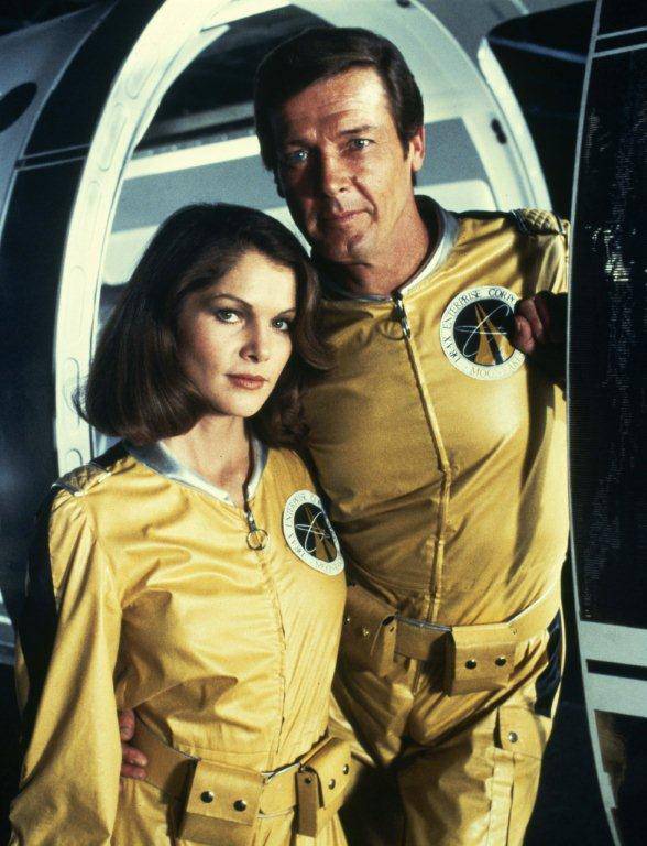 Roger Moore and Lois Chiles in Moonraker (1979) (Credits: MGM).