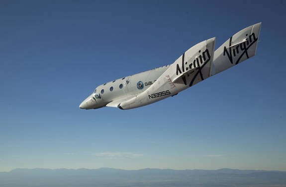 Virgin Galactic SpaceShipTwo in a test flight