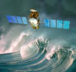 An artist's rendition of the Jason-3 weather satellite. (Credits: CNES).