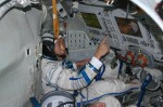 Astronaut Soichino Guchi aboard the ISS (Credits: JAXA).