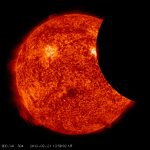 Solar Dynamics Observatory Captures Partial Eclipse