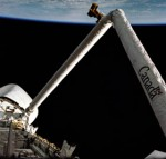 MDA's Canadarm flew for the first time on Space Shuttle mission STS-2, Nov. 1981 (Credits: NASA).