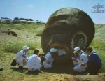 Ground crew help the Shenzhou-9 taikoanuts out of their capsule (Credits: Shanghai Daily).