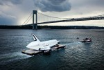 The Space Shuttle Enterprise on its way to its new home (Credtis: Michael Nagle/Getty Images).