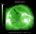 The latest GOES solar x-ray image (Credits: NOAA).