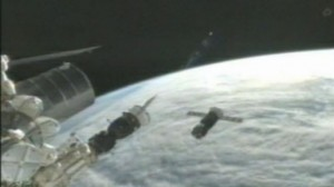 Progress M-15M successfully completed second and third rendezvous stages before failing to dock with ISS on July 24 (Credits: NASA).