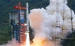 Chang&#039;e 1 lifts off from the Xichang Satellite Launch center (Credits: Associated Press).