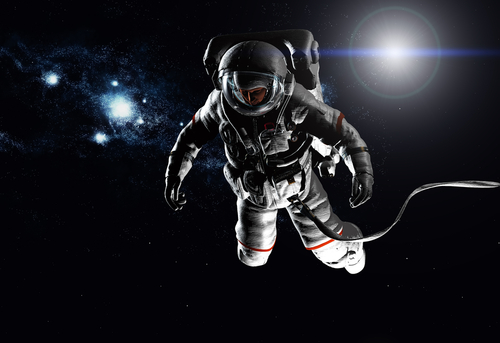 astronaut floating in space image - photo #42