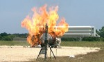 Morpheus in flames following its failed test at Kennedy Space Center (Credits: NASA).