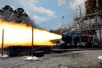 A 2010 test of a solid rocket motor based on space shuttle test equipment at NASA's Marshall Spaceflight Center (Credits: NASA).