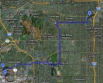 Endeavour's route from Los Angeles Airport to the California Science Center (Credits: GoogleMaps).