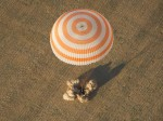 Expedition 32 crew make a picture-perfect landing in Kazakhstan aboard their Soyuz TMA-04M on September 16 (Credits: NASA/Carla Cioffi).