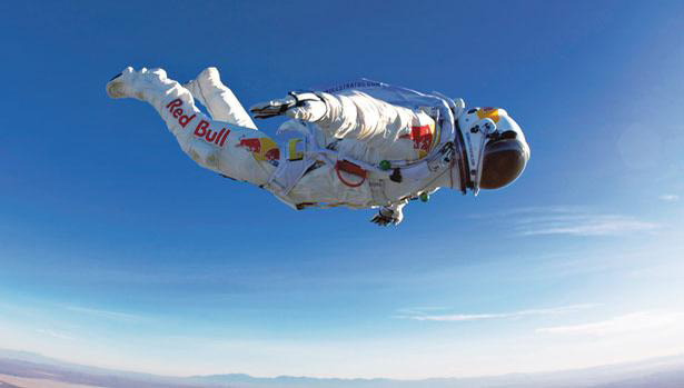 Felix Baumgartner survived ebullism thanks to his specially designed space suit.