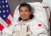 Koichi Wakata will become the first ever Japanese commander of ISS; the little humanoid robot will be just another member of his crew (Credits: NASA).