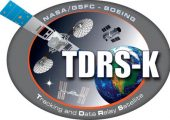 The Tracking and Data Relay Satellite K logo (Credits: NASA)