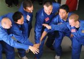 The Mars500 crew.  Study shows that some of the crew experienced lethargy and depression (Credits: BBC).