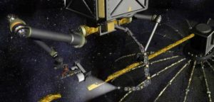 Phoenix scavenger spacecraft gets to work deconstructing a satellite (Credits: DARPA).