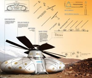 The concept of the S.H.E.E. habitat is based on a research project conducted in NASA (Credits: Space Innovations).