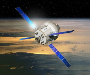 Proposal for the new Orion's design. The first launch is scheduled in 2017 on SLS (Credits: ESA)