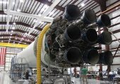 Falcon 9 rocket's engines. Although 1 engine failed during the launc on October 7, the Dragon cargo made succesfully to the ISS.