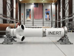 The intert motor built by ATK to be integrated in Orion capsule (Credits ATK).