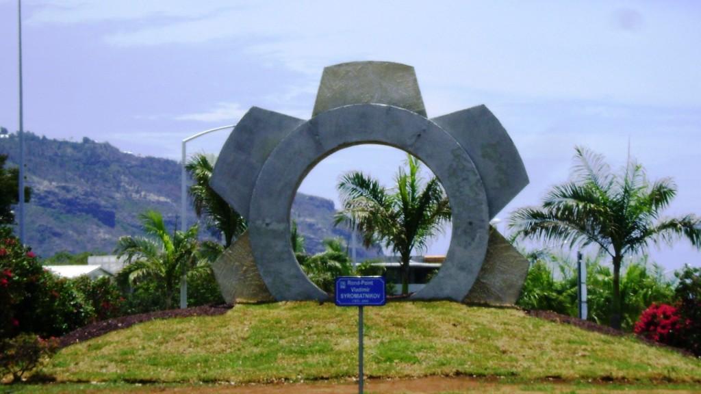 Le Porte des Mondes memorial honors Vladimir Syromiatnikov on Reunion Island (Credits: Anton Syromiatnikov).