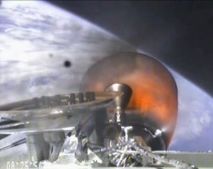 Dragon separates from Falcon 9 during March 1 launch (Credits: SpaceX).
