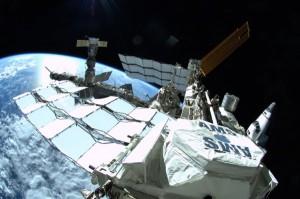 The Alpha Magnetic Spectrometer-2 (AMS) on orbit (Credits: NASA).