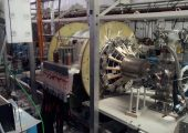 The vacuum chamber, circled by high strength magnets, could produce the first fusion-based propulsion prototype (Credits: University of Washington/MSNW).