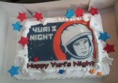 A Yuri's Night cake in Abu Dhabi (Credits: Yuri's Night/Al Ain).