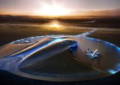 Spaceport America is located in Jornada del Muerto desert. It was officially opened on October 8, 2011 (Credits: Virgin Galactic).