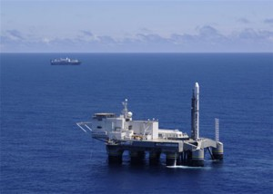 Odyssey launch pad in the Pacific Ocean (Credits: Sea Launch).