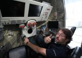 Iacopo Baroncini inside the Soyuz Simulator at the European Astronaut Centre in Cologne (Credits: Iacopo Baroncini).