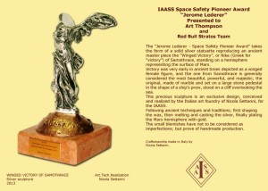 Jerome Lederer award statue