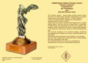 Jerome Lederer award statue