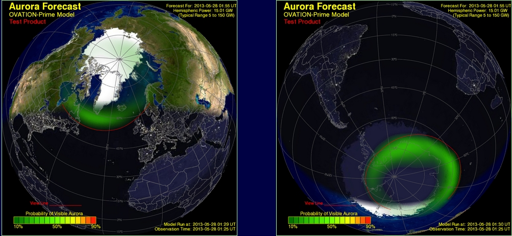 NOAA is testing a new aurora forecast model while its usual POES is out of commission (Credits: NOAA).