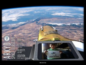 """See your face in Space: A boom-mounted camera allows for a """"selfie"""" to be taken(Credits:Planetary Resources)"""