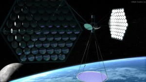 Artist's impression of space-based solar power system. (Credits: NSS).