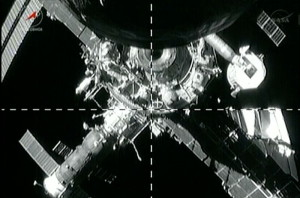 An image from the undocking operation of Progress 51 (Credits: Roscosmos/Space.com)