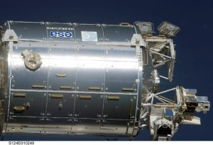 View of the Columbus module showing the  External Payload Facility where Solar is located (Credits: NASA).