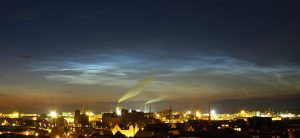 Polar mesospheric clouds over Wismar, Germany on July 9, 2011(Credits: Leibniz-Institute of Atmospheric Physics)
