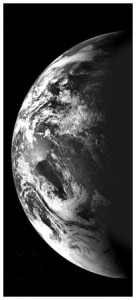 An image of Earth, acquired by India's first lunar mission, Chandrayaan-1 (Credits: ISRO).