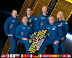 Aleksandr Misurkin, Fyodor Yurchikhin, Chris Cassidy, Luca Parmitano, Pavel Vinogradov, and Karen Nyberg made up Expedition 36, which has now concluded to make way for the start of Expedition 37 (Credits: NASA).