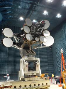 The AMOS-4 payload undergoes pre-flight testing (Credits: Israel Aerospace Industries).