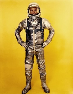 Gordon Cooper flew the last Mercury flight in this evolved spacesuit (Credits: NASA).