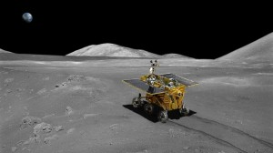 """The Chinese National Space Administration successfully soft-landed the Chang'e 3 lander with the Yutu rover on the Moon December 14, 2013 at 8:11 a.m. EST (1311 GMT), within Sinus Iridum, or the """"Bay of Rainbows."""" (Credits: ESA / CSNA)."""