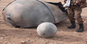Delta II tank and sphere retrieved by Reichel and his team in Mongolia (Credits: Dan Reichel).